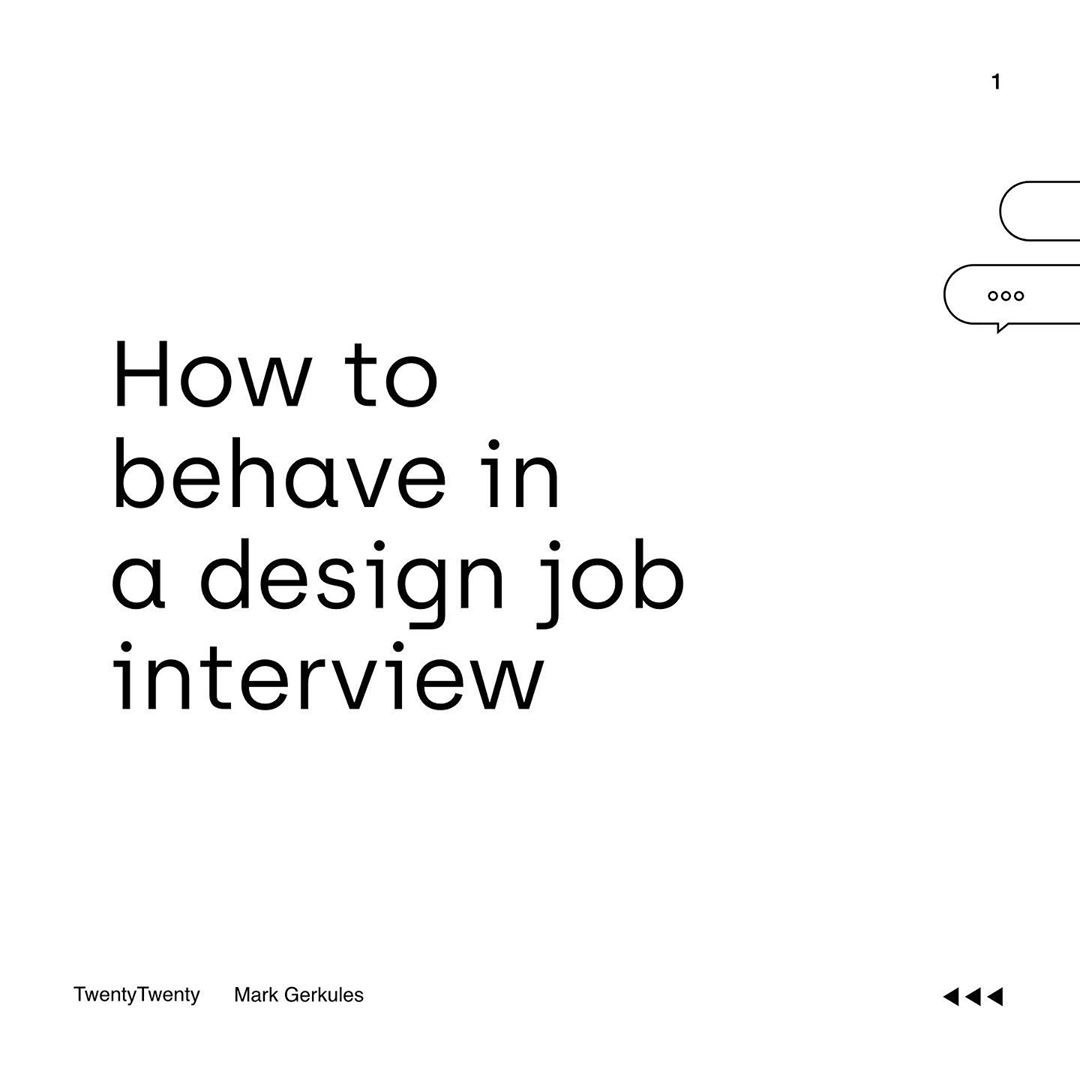 How to Behave in a Design Job Interview