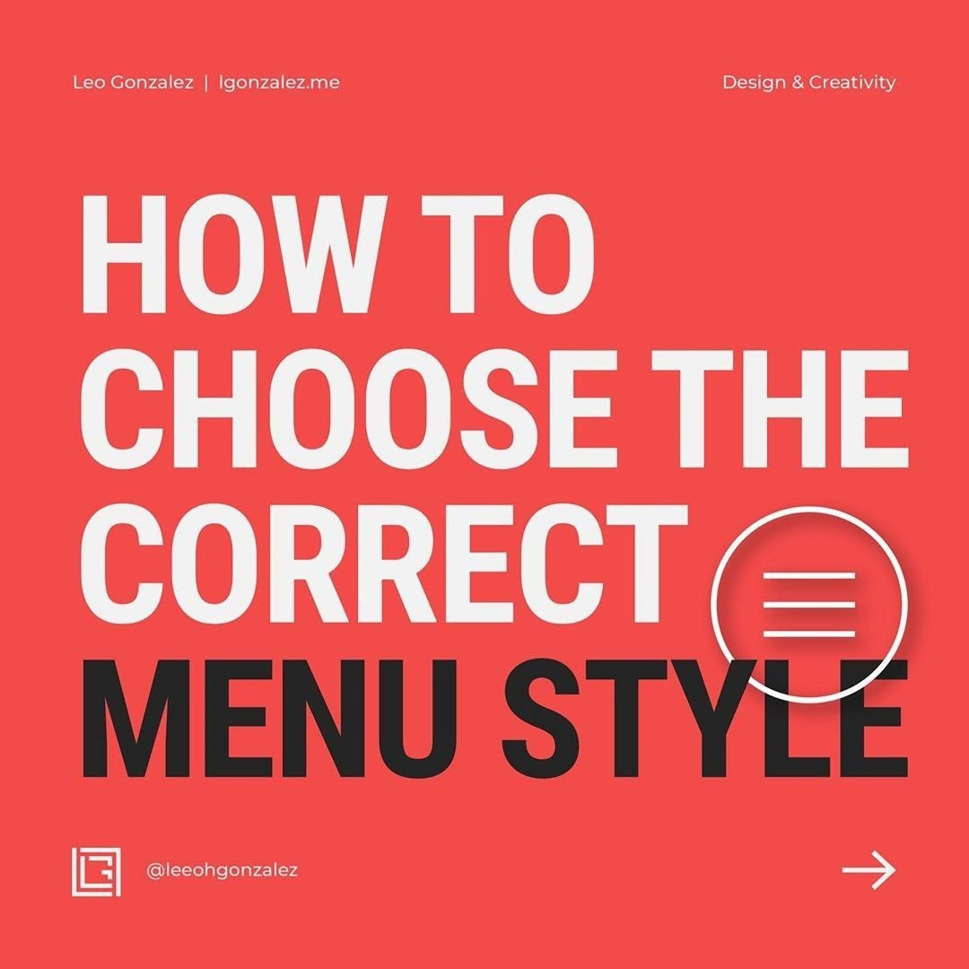 How to Choose the Correct Menu Style