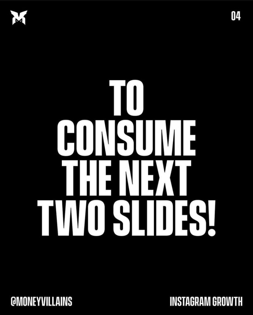 To consume the next two slides!