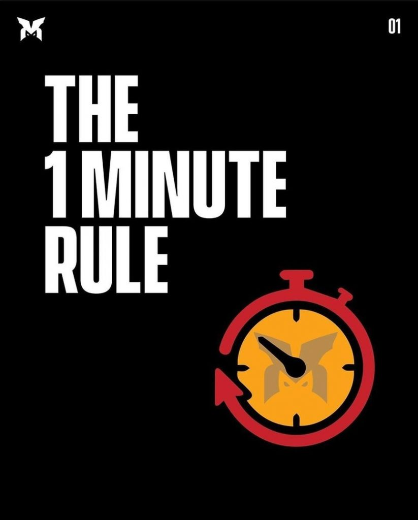 The 1 minute rule