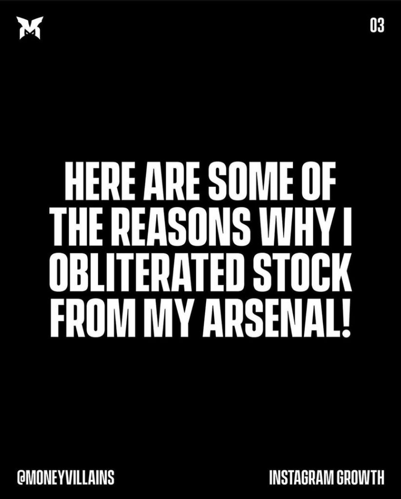Here are some of the reasons why i obliterated stock from my arsenal!