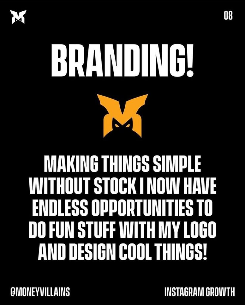 Branding!  Making things simple without stock i now have endless opportunities to do fun stuff with my logo and design cool things!