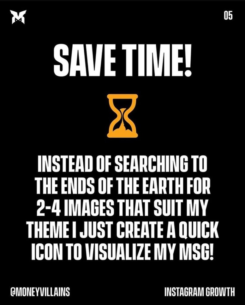 Save time!  Instead of searching to the ends of the earth for 2-4 images that suit my theme i jist create a quick icon to visualize my MSG!