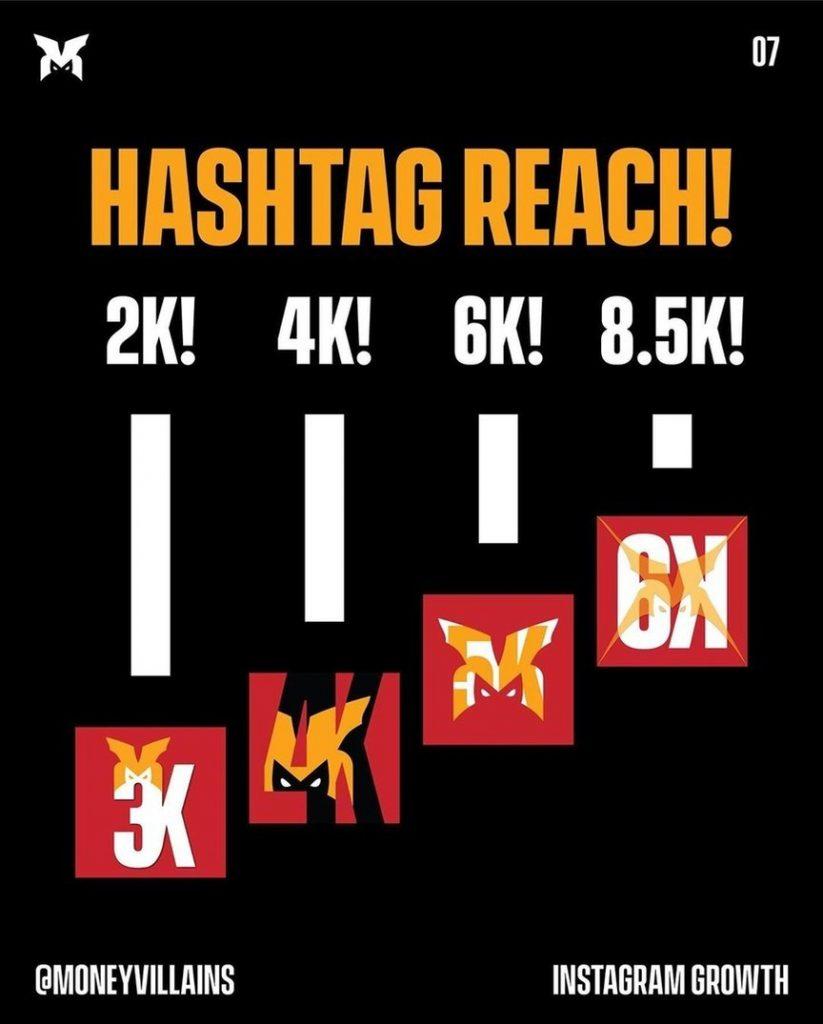 Hashtag reach!