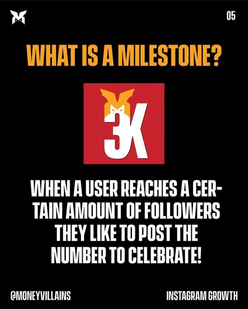What is a milestone?  When a user reaces a certain amount of followers they like to post the number to celebrate!