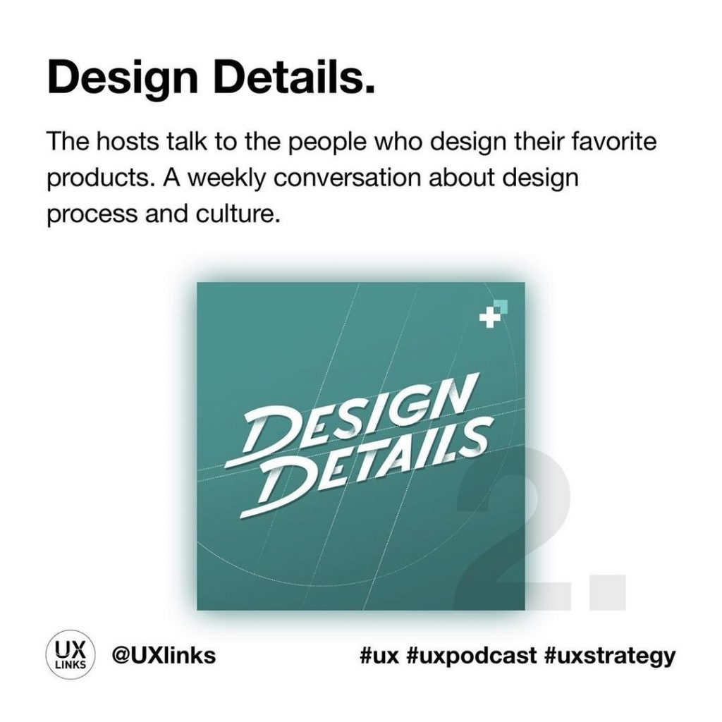🔹 Design Details  The hosts talk to the people who design their favorite products. A weekly conversation about design process and culture.