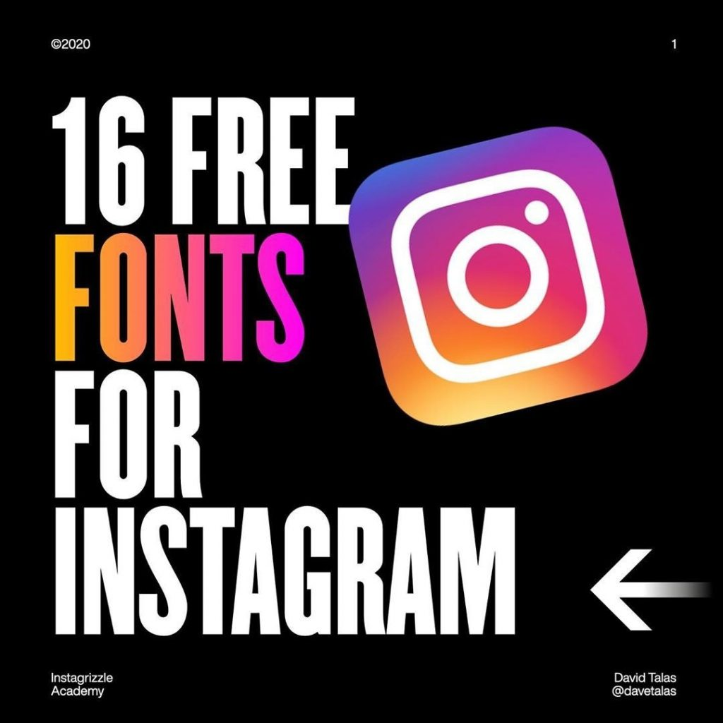 16 Free Fonts for Instagram