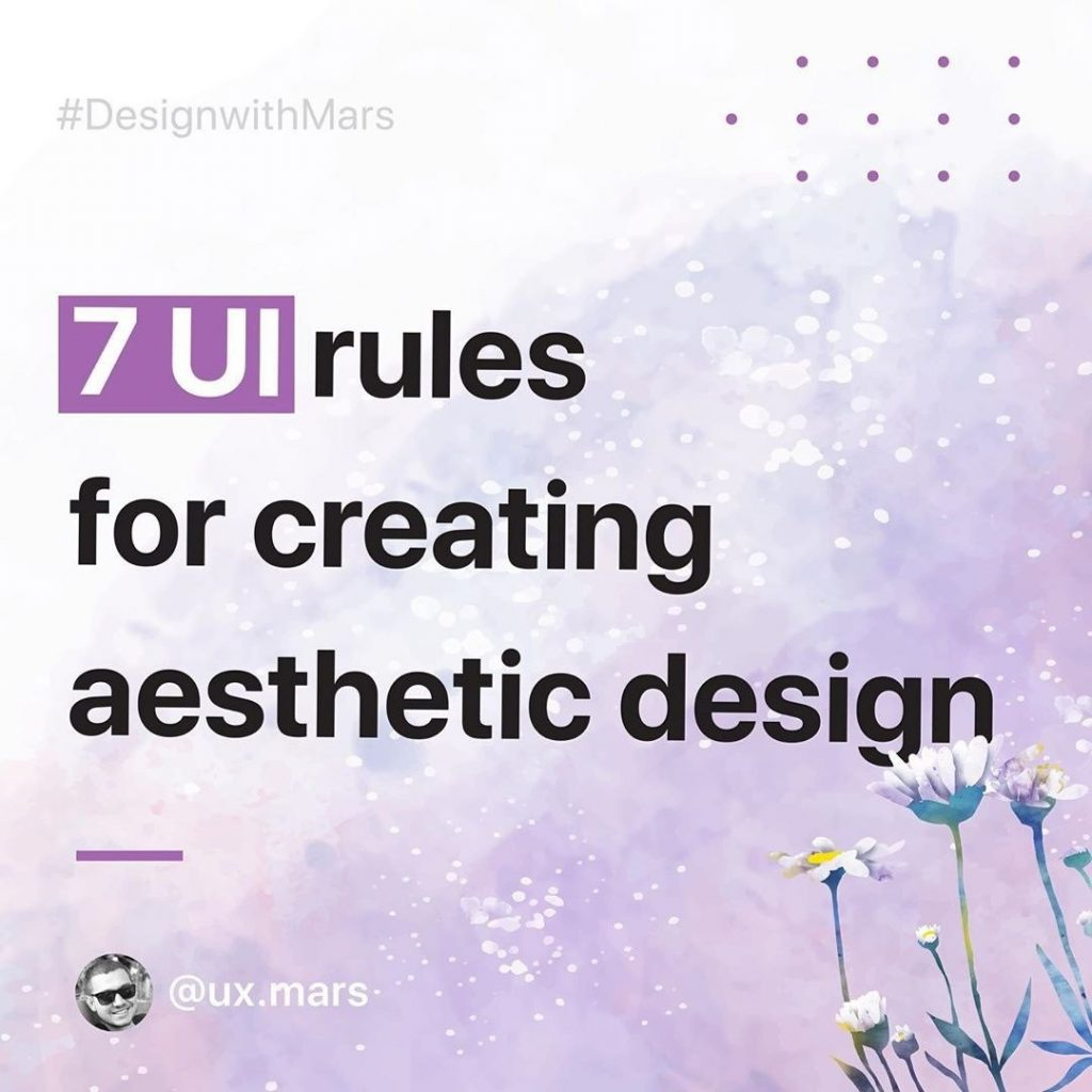 7 UI Rules for Creating Aesthetic Design ⠀
