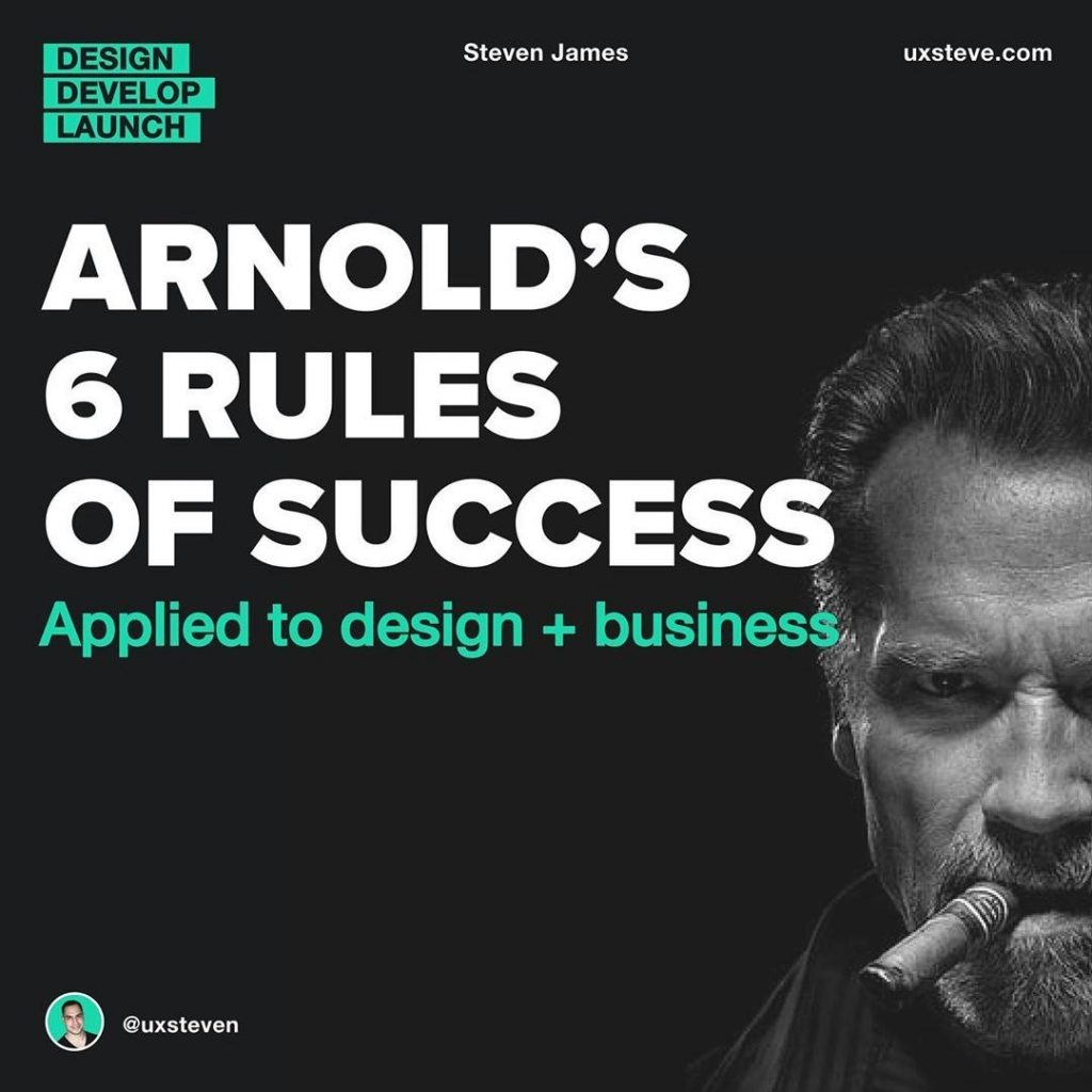 Arnold's 6 Rules of Success Applied To Design and Business