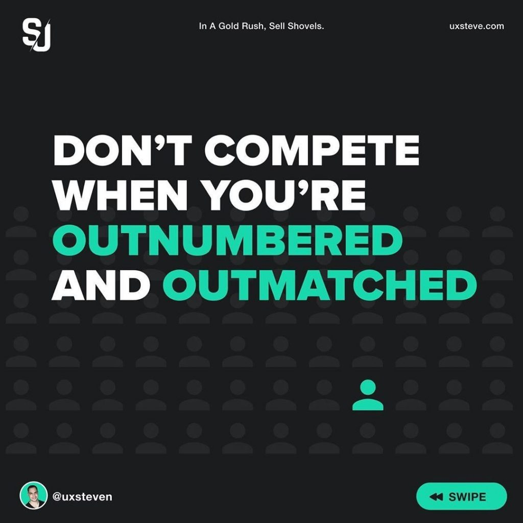 Don't compete when you're outnumbered and outmatched