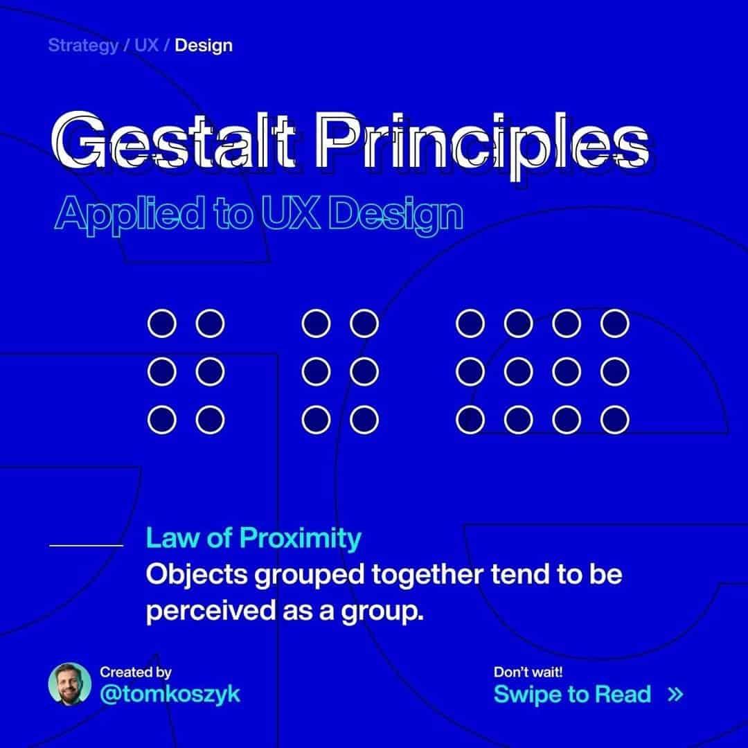 Gestalt Principles. Law of Proximity