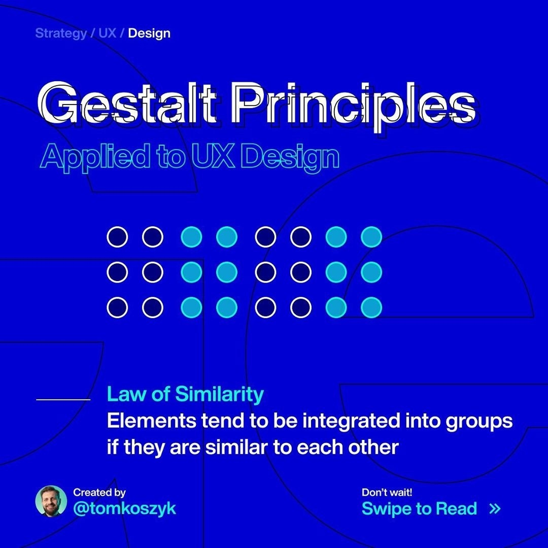 Gestalt Principles. Law of Similarity