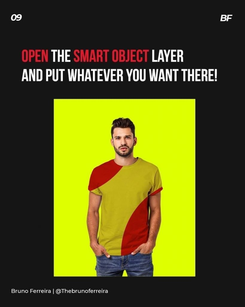 Open the smart object layer and put whatever you want there!
