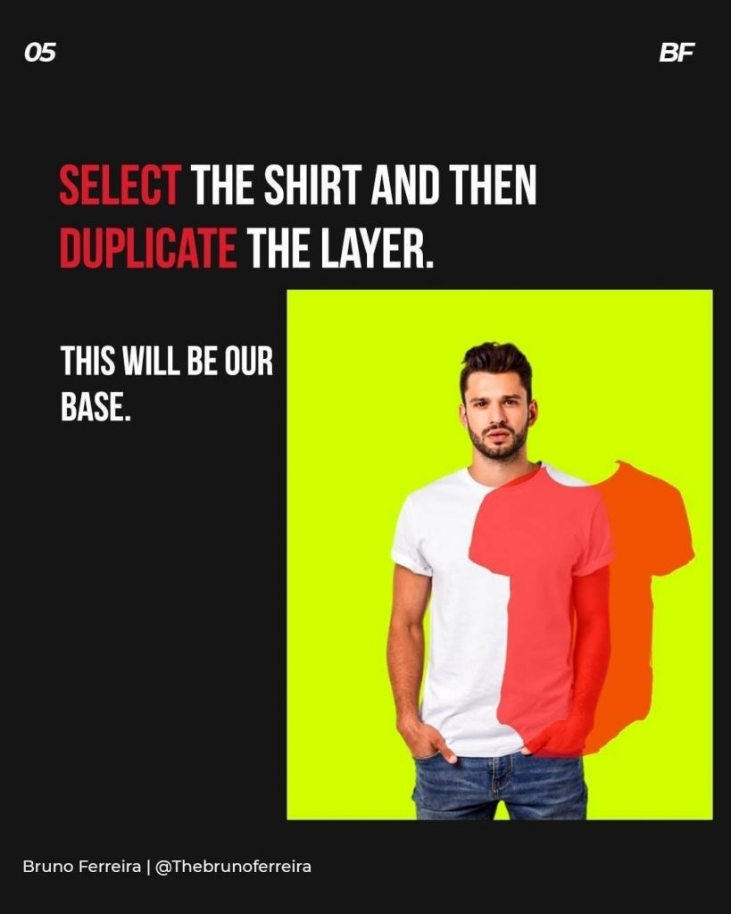 Select the shirt and then duplicate the layer.  This will be our base.