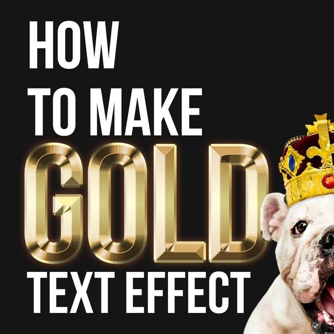 How to Make a GOLD Text Effect on Photoshop!