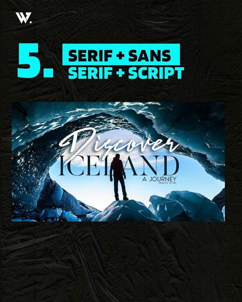 Serif + Sans Serif + Script