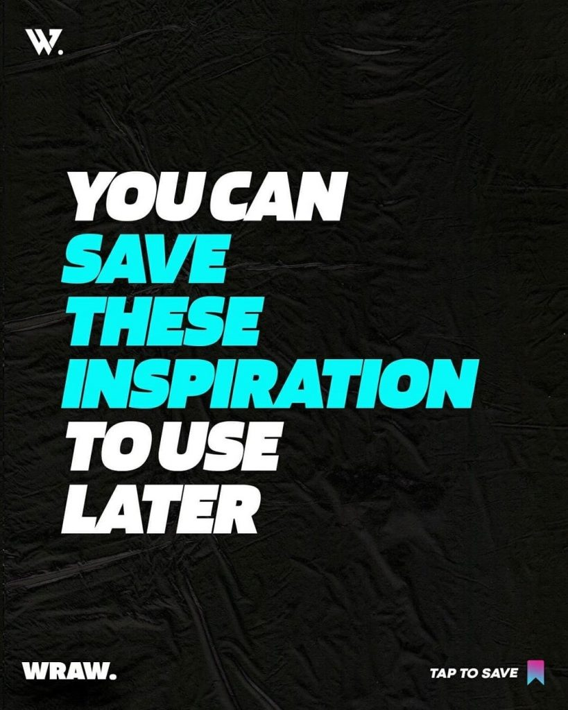 You can save these inspiration to use later