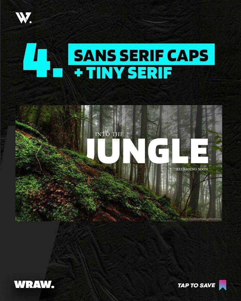 Sans Serif Caps + Tiny Serif