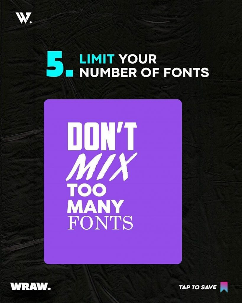 Limit Your Number of Fonts