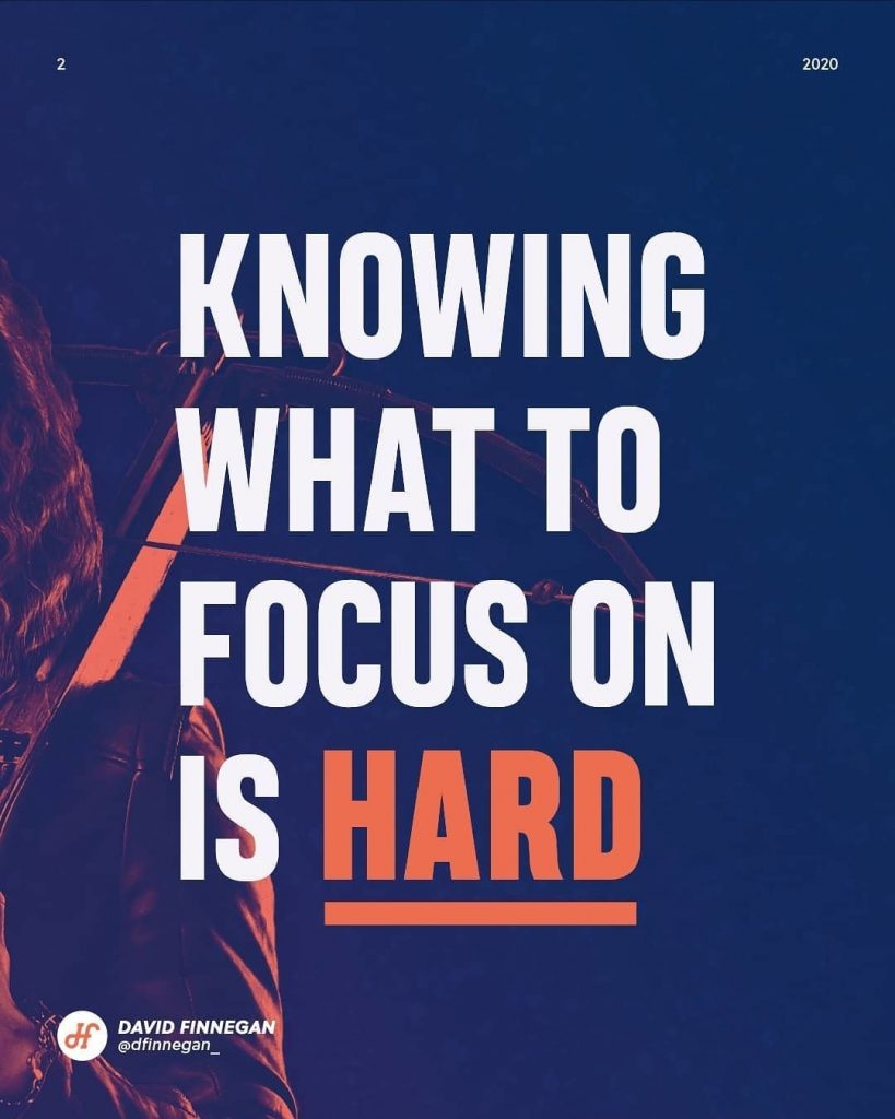 Knowing what to focus on is hard