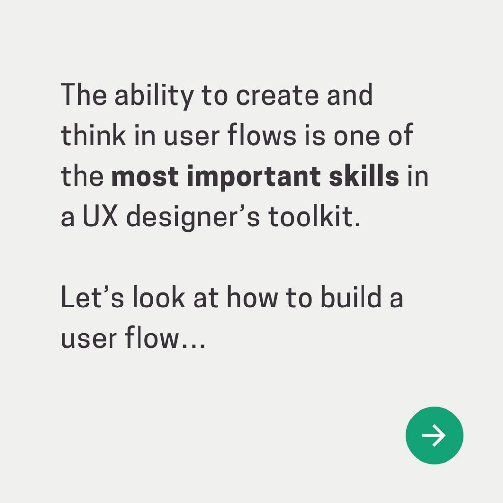 The ability to create and think in user flows is one of the most important skills in a UX designer's toolkit.  Let's look at how to build a user flow...